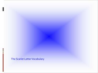 The Scarlet Letter Vocabulary