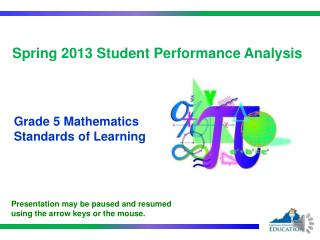Spring  2013  Student Performance  Analysis
