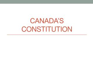 Canada's Constitution