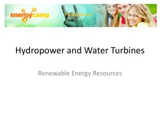 Hydropower and Water Turbines