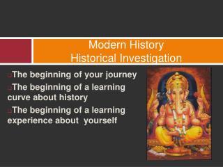 Modern History  Historical Investigation