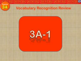 Vocabulary Recognition Review