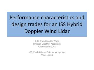 Performance characteristics and design  trades for  an ISS  Hybrid Doppler Wind  Lidar