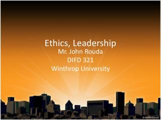 Ethics, Leadership