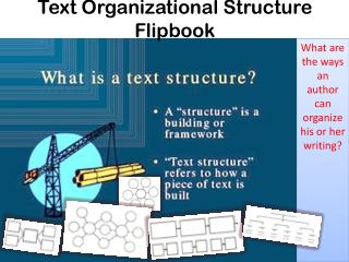 Text Organizational Structure Flipbook