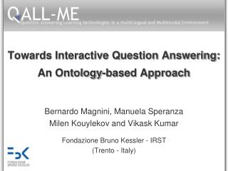 Towards Interactive Question Answering: An Ontology-based Approach