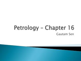 Petrology – Chapter 16