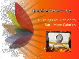 Nutrition Warm – Up