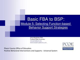 Basic FBA to BSP: