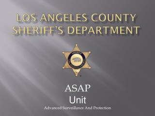 Los Angeles County Sheriff s Department