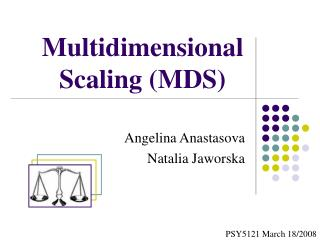 Multidimensional  Scaling (MDS)