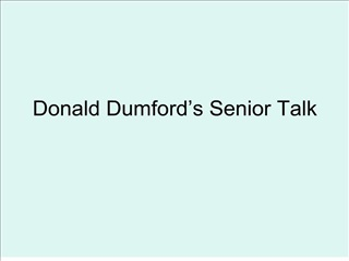 Donald Dumford s Senior Talk