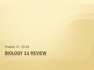 Biology 11 review