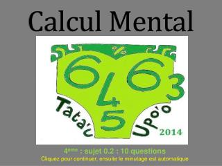Calcul Mental