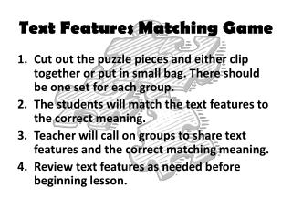 Text Features Matching Game