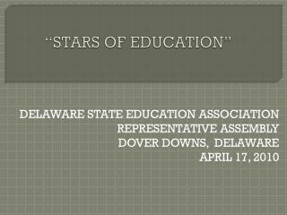 """STARS OF EDUCATION"""