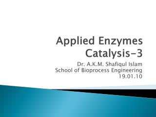 Applied Enzymes Catalysis-3