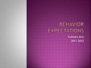 Behavior Expectations