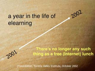 a year in the life of  elearning