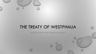 The treaty of Westphalia