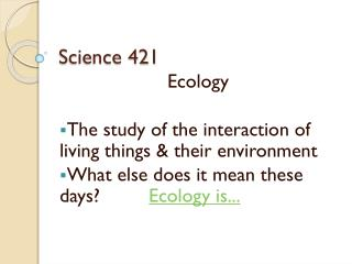 Science 421