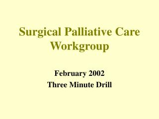Surgical Palliative Care Workgroup