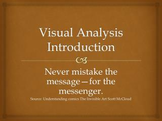 Visual Analysis Introduction
