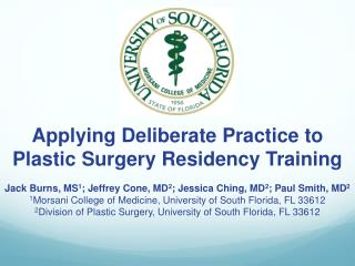 Applying Deliberate Practice to Plastic Surgery Residency Training