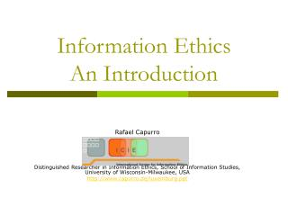 Information Ethics  An Introduction