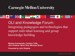 OLI and Knowledge Forum