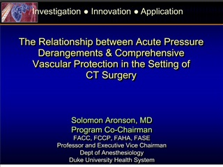 The Relationship between Acute Pressure  Derangements  Comprehensive  Vascular Protection in the Setting of  CT Surgery
