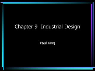 Chapter 9  Industrial Design