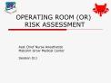 OPERATING ROOM OR         RISK ASSESSMENT
