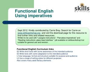 Functional English Using imperatives