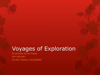Voyages of Exploration