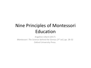 Eight Principles of Montessori Education