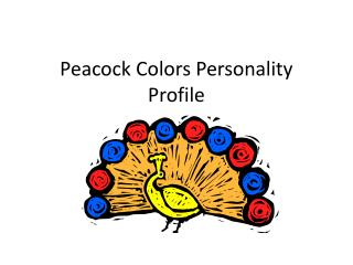 Peacock Colors Personality Profile