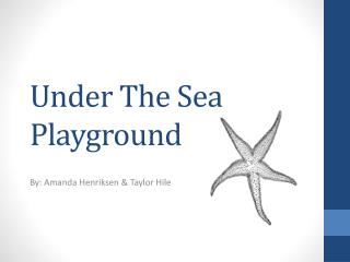 Under The Sea Playground