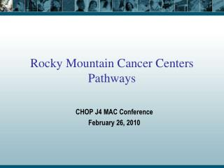 Rocky Mountain Cancer Centers Pathways