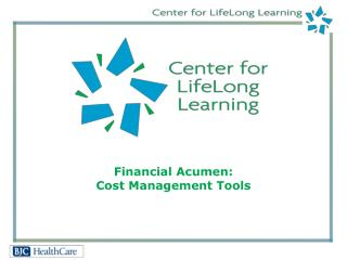 Financial Acumen: Cost Management Tools