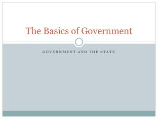 The Basics of Government
