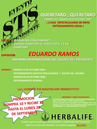 EVENTO STS INDEPENDIENTE