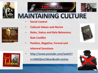 MAINTAINING CULTURE