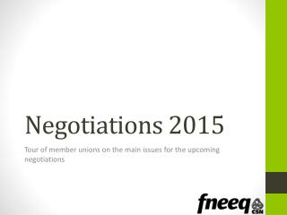 Negotiations 2015