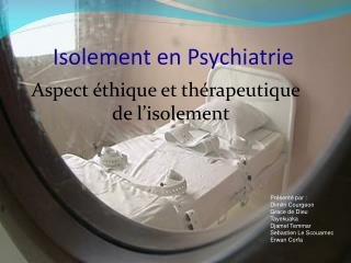 Isolement en Psychiatrie