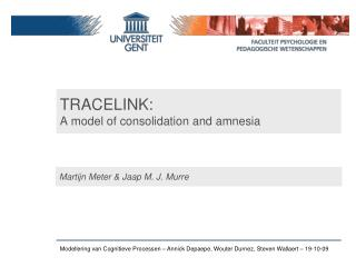 TRACELINK: A model of  consolidation  and  amnesia