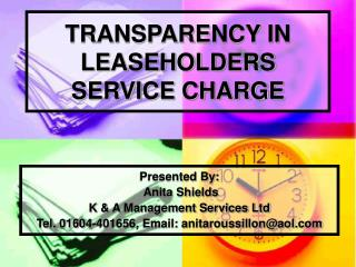 TRANSPARENCY IN LEASEHOLDERS SERVICE CHARGE