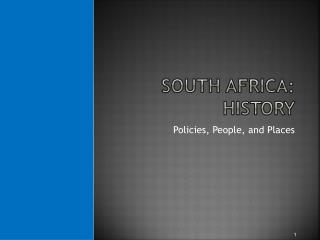 South Africa: History