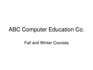 ABC Computer Education Co.