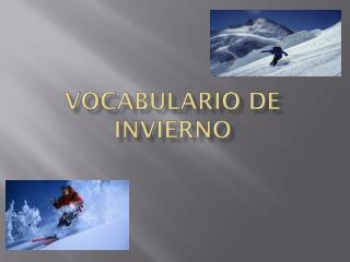 vocabulario  de  invierno